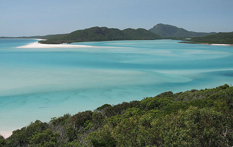 The Whitsunday Islands: windy and wet
