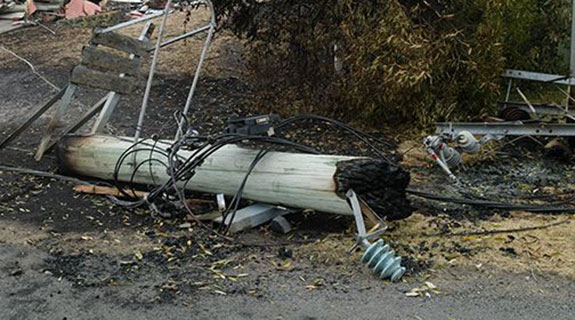 Bushfires damage electricity network