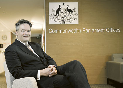 Shaping the national agenda in Cormann's sights