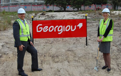 Georgiou starts work on $56m pair of projects