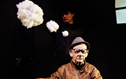 Surreal puppetry, earthly dance