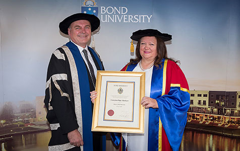 Rinehart awarded honorary doctorate
