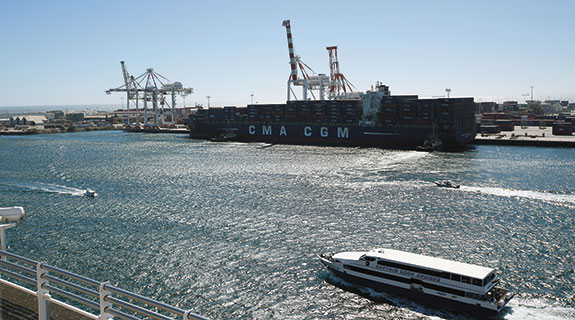 Efficiency lost if port sale founders