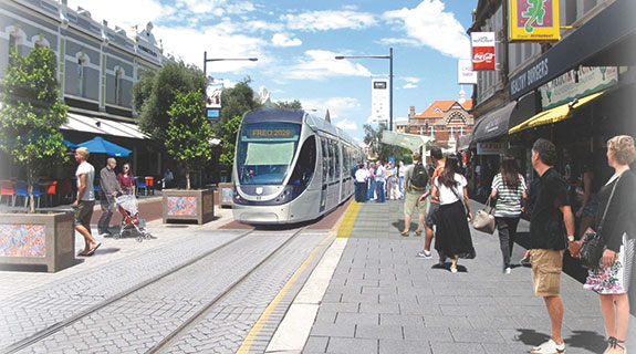 Light rail, freight form Freo plan