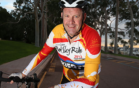 Cyclists make healthy effort