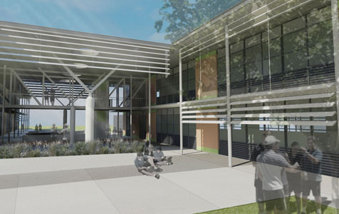 Cooper & Oxley starts work at Halls Head college