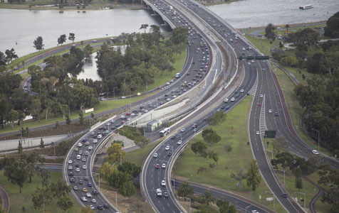 Congestion blamed on tailgaters