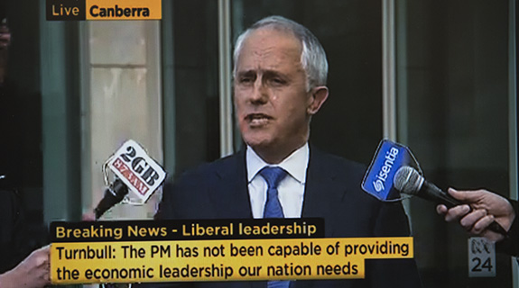Turnbull in Liberal leadership pitch