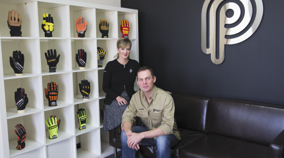 Glove maker gives industry a handy lift