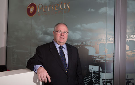 Perseus shares fall on output issues