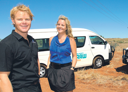 Raw Hire team driving the north-west