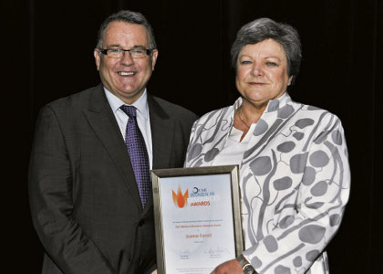 Farrell wins top prize at CME women awards
