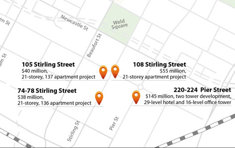 Stirling Street high-rise projects push $300m