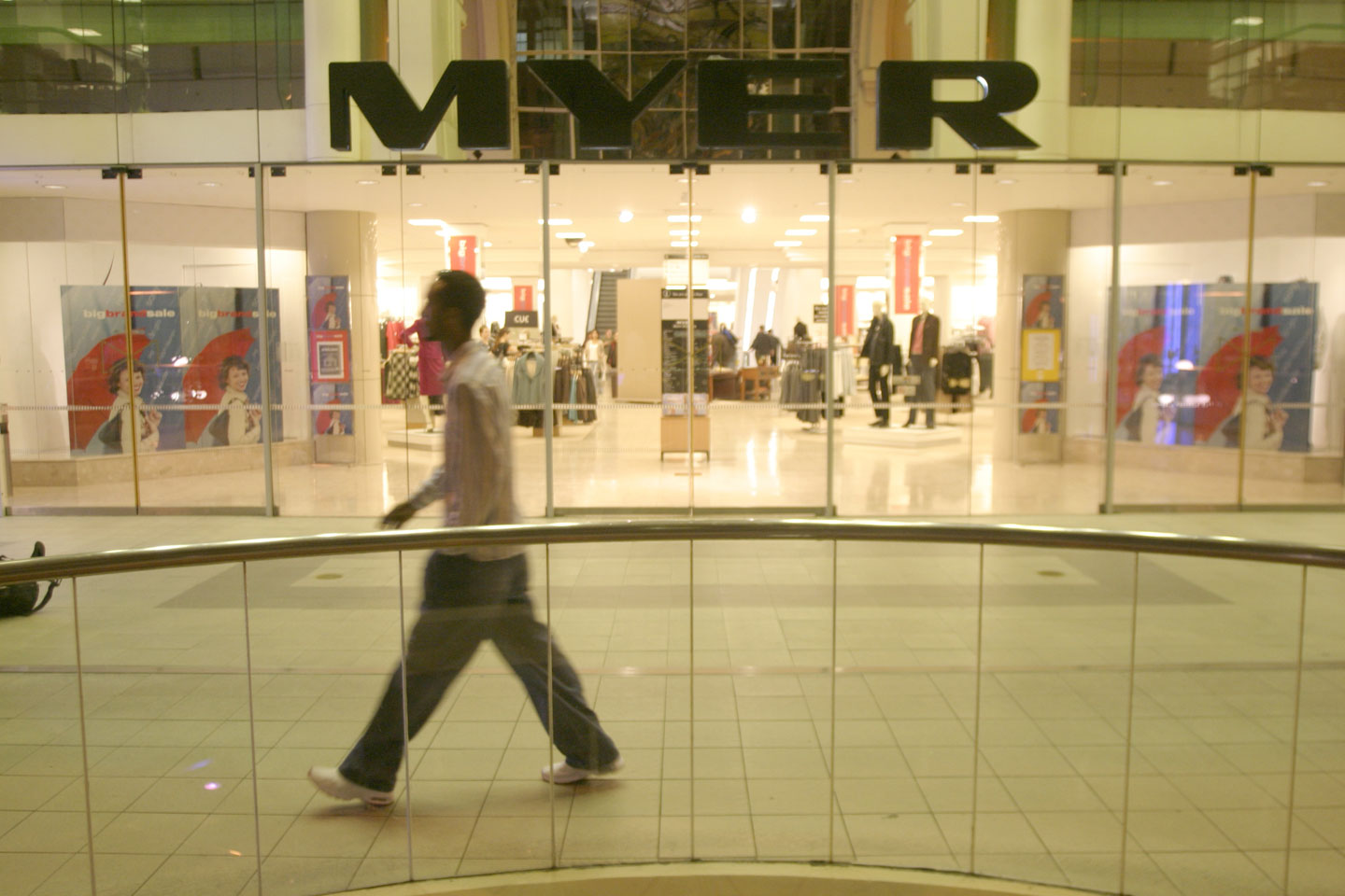 Australia's Myer reports fall in Q3 sales