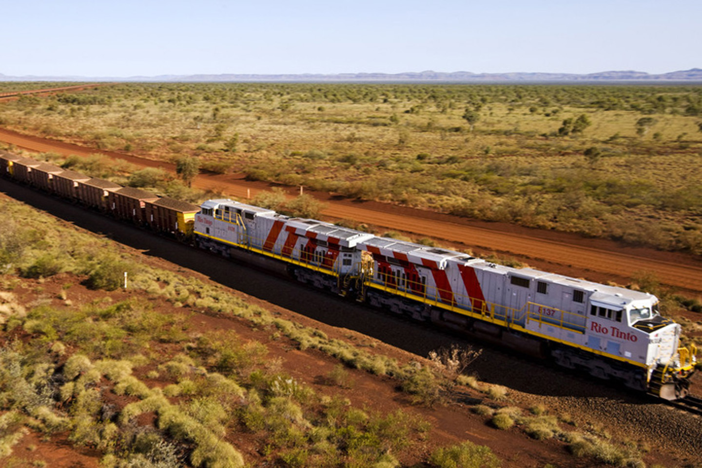 Rio operates about 200 locomotives on more than 1,700 kilometres of track in the Pilbara