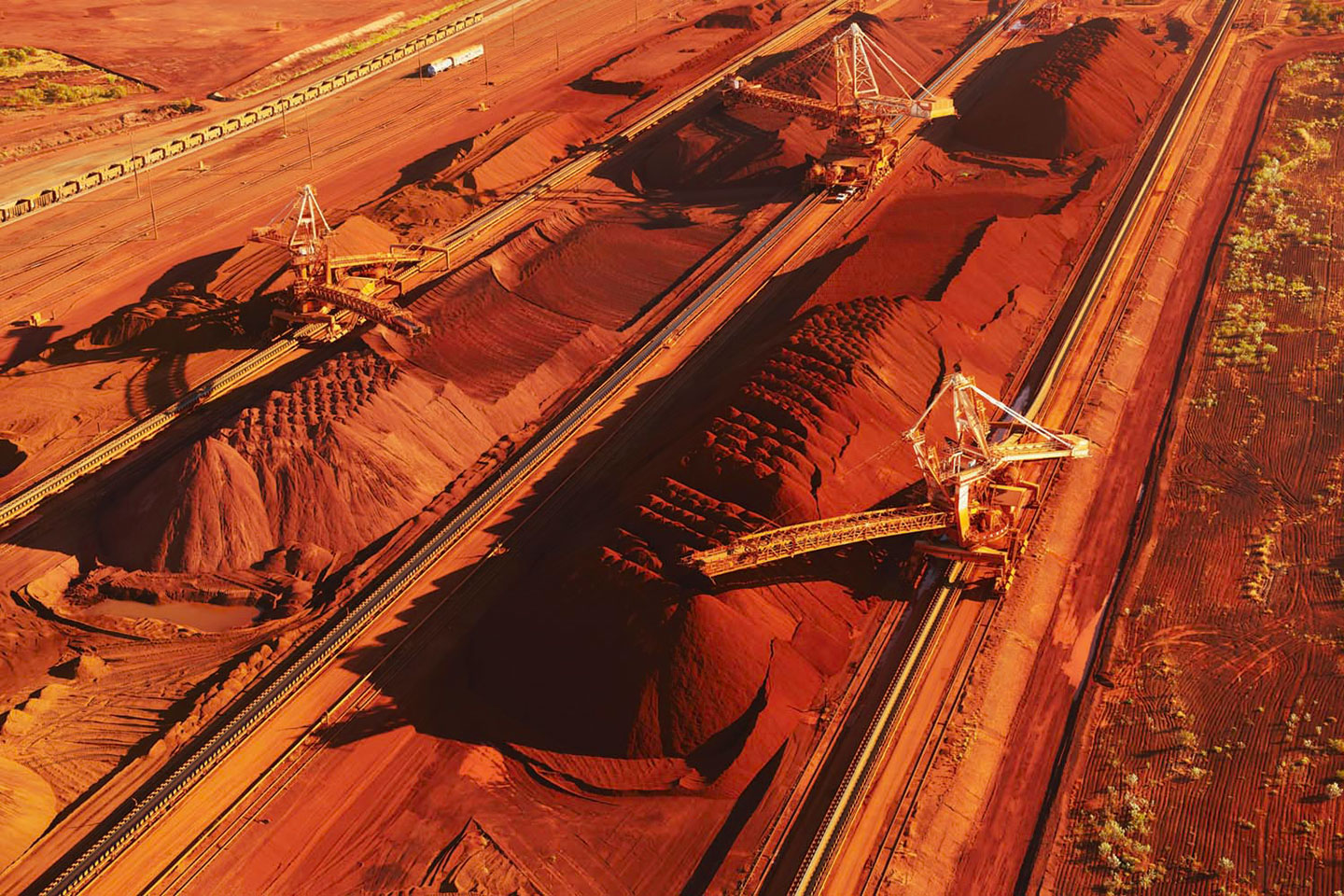 The mangled wreckage of BHP's runaway train which derailed in Western Australia