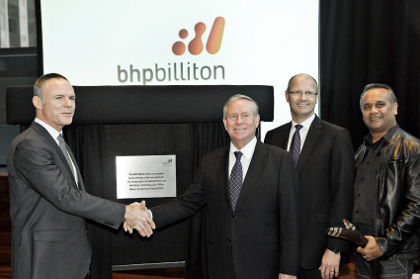 Kloppers defends BHP at office opening