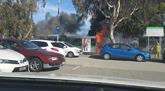 Transperth bus catches fire at Whitfords