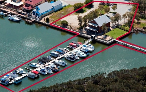 Waterfront marina site hits market