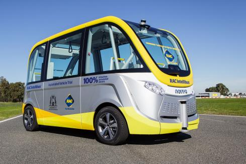 South Perth welcomes Australia's first driverless bus