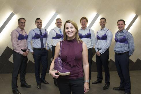 BDO dons purple bras for good cause