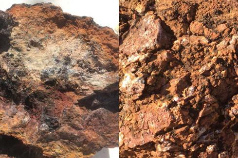 Spectacular copper/gold rock chips for Hammer in Qld