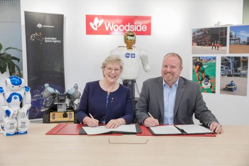 Woodside signs deal with space agency