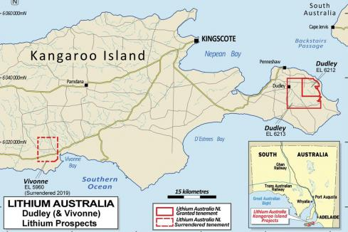Lithium Australia hits paydirt on Kangaroo Island