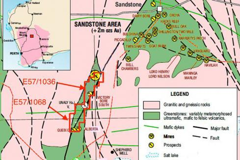 Surefire to drill for gold near Sandstone