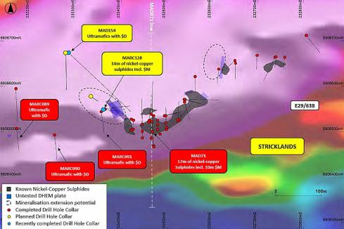 St George extends nickel-copper zone at Stricklands