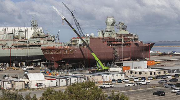 West has capability for naval work