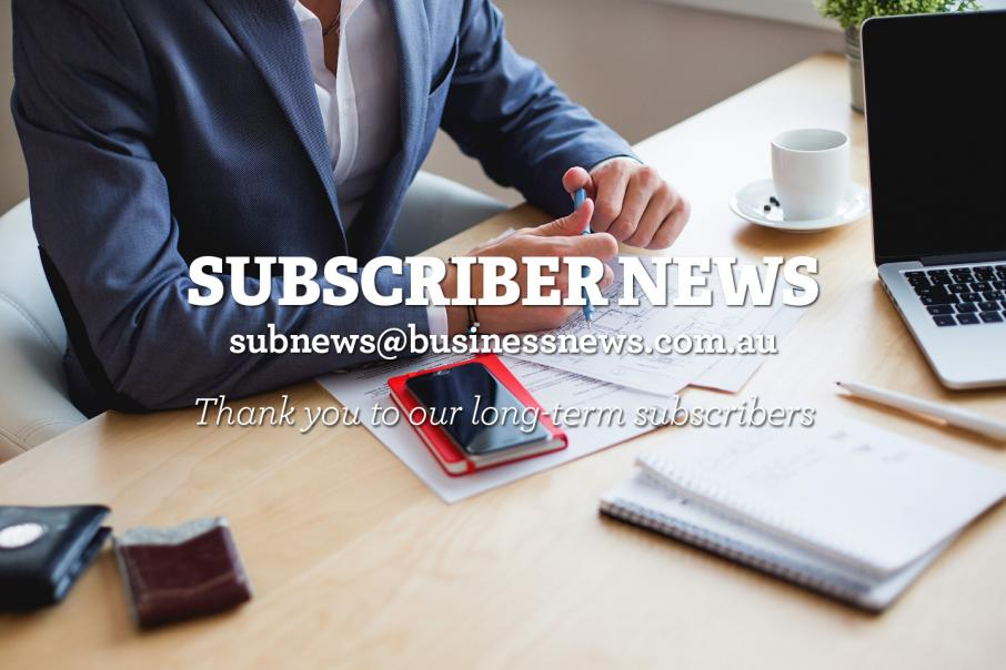 Subscriber News - 11 April 2016