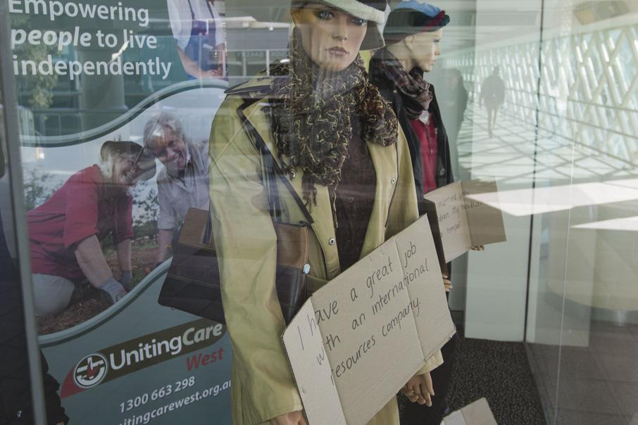 UnitingCare West mannequins tell story of homeless women