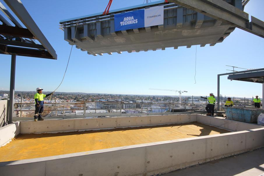 Rooftop pool goes in at Park Regis