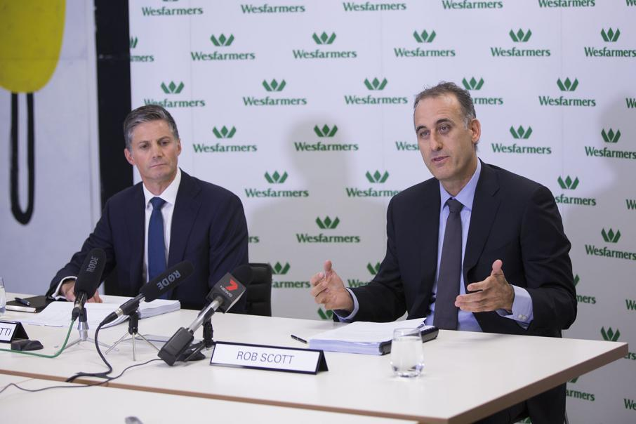 Wesfarmers profit down 86% on write-downs