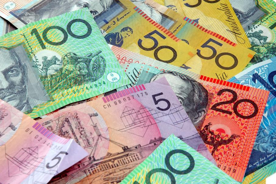 $A falls amid worries about Italy