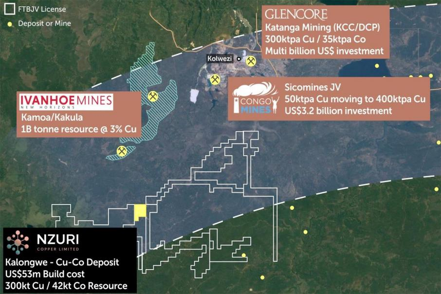 Shallow copper drilling results for Nzuri in DRC