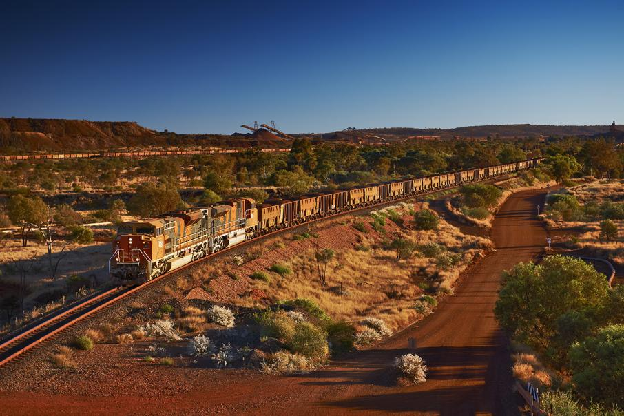 BHP clears train wreckage