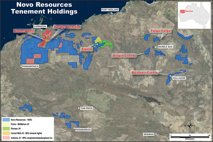 Novo kicks off West Pilbara gold exploration